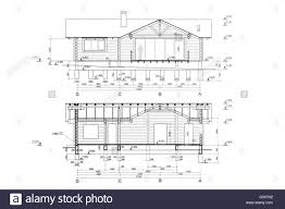 residential blueprints architectural blueprints project of new residential house stock