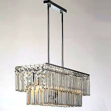 Rectangular Chandelier With Crystals Modern Oblong K9 Crystal Chandelier 10170 Browse Project