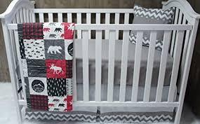 Woodland Nursery Bedding Set by Baby Boy Chevron Baby Bedding Woodlands Moose Crib