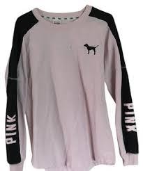 pink clothing pink light black s secret sweatshirt sweater pullover