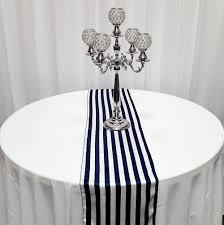 black white striped table runner high quality satin table runners