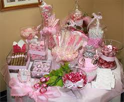 candy bar baby shower pink baby shower candy buffet