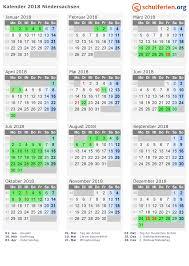 Kalender 2018 Feiertage Mv Kalender 2018 Ferien Niedersachsen Feiertage