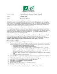 Dental Assistant Job Duties Resume by Program Assistant Resume Free Resume Example And Writing Download