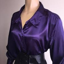 purple blouses liquid satin shiny purple blouse silky vtg shirt top 20w 2x