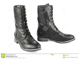 s boots with laces s black boots with laces stock photo image of color