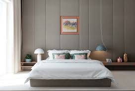 Yellow And Gray Bedroom Ideas Bedroom Lovely Grey Room With Panelled Linen Wall And Floral