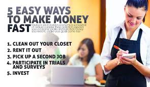 easy way to earn money 5 easy ways to make money fast makemoneyinlife