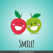 happy apples vector free