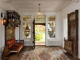 foyer area victorian foyer with bench and area rug wonderful and attractive