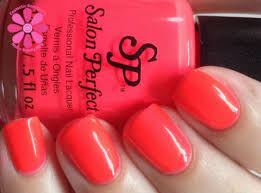 salon perfect neon pop nail lacquer duo swatches u0026 review