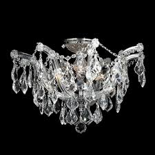 Maria Theresa 6 Light Crystal Chandelier Maria Theresa 6 Light Chrome Finish With Clear Crystal Ceiling Light