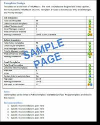 service review report template helpdesk configuration report