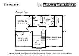 amherst by westchester modular homes two story floorplan