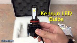 Led Head Light Bulbs by Kensun Led Headlight Bulbs H11 6000 Lumens Amazon 2016 Youtube