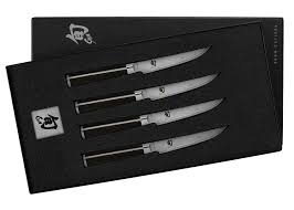 amazon com shun dms400 classic 4 piece steak knife set steak