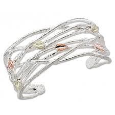 cuff bracelet sterling images Landstrom 39 s black hills gold on sterling silver cuff bracelet jpg