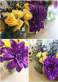 deep purple color purple u0026 yellow dinner party thoughtfully simple