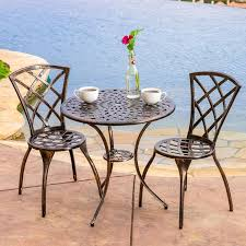Aluminum Bistro Table And Chairs Remarkable Aluminum Bistro Table And Chairs With Aluminum Bistro
