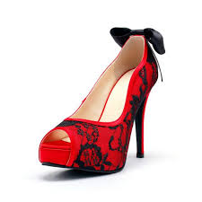 Wedding Shoes Ideas Beautiful Red Color Lace Wedding Shoes Ideas For Brides