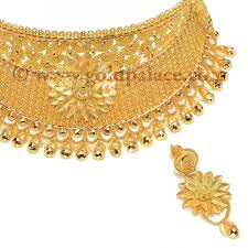 collar gold necklace images 22 kt gold filigree collar set gold jewelry gold palace jpg