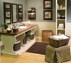 corner brown polished wooden bathroom vanity with grey granite top