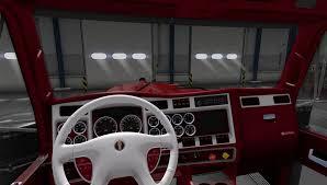 trailer kenworth 2016 kenworth w900 truck interior american truck simulator mod ats mod