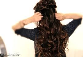 flower hair bun flower braid half up half hairstyle tutorial