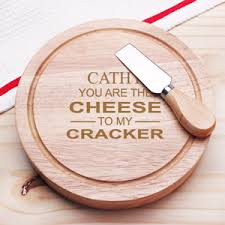 personalized cheese board set you are the cheese to my cracker personalized gourmet 5