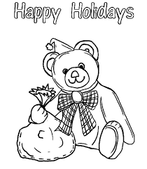 holidays teddy bear balloon coloring pages coloring sky