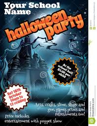 halloween party flyer template green and black stock vector 40