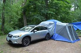 subaru camping trailer don u0027t like camping do it without leaving the car the globe and mail