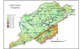 kentucky map harlan groundwater resources of letcher county kentucky