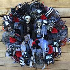 halloween wreath front door halloween wreath bride and groom