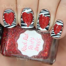 valentine u0027s day nail art peachy polish bloglovin u0027
