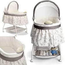 newborn bassinet baby crib adjustable cradle infant basket nursery