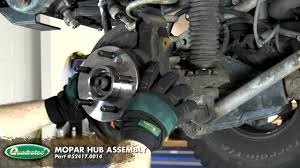how to jeep wrangler u002797 u002706 tj hub replacement youtube