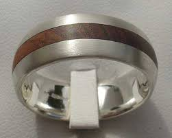 titanium wedding rings uk domed wooden inlay silver wedding ring love2have in the uk