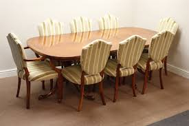 shield back dining room chairs reproduction figured walnut twin pillar dining table two d ends