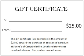 make your own gift card 25 gift certificate template