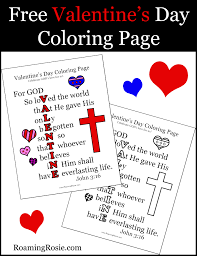 valentine u0027s day coloring page with john 3 16 quote roaming rosie