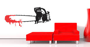 halloween chainsaw wall decals dezign with a z