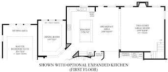 kitchen floor plans with island and walk in pantry southlake meadows the venticello home design