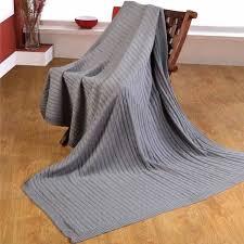 jetée canapé jeté de lit ou de canapé 100 coton torsadé naturel 150 x 200 cm