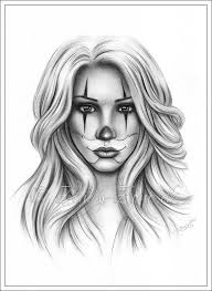 chicano hairstyle chicano tattoo clown girl art print glossy emo fantasy girl