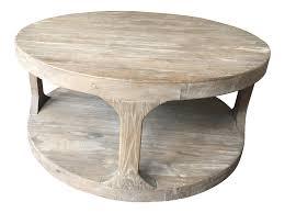 restoration hardware martens round coffee table chairish