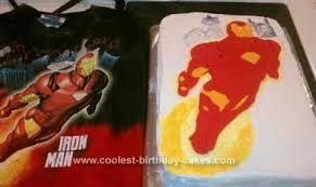 cool homemade iron man birthday cake design