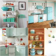 Turquoise Kitchen Decor by Retro Kitchen Appliance Fabric Complete Your Retro Kitchen With