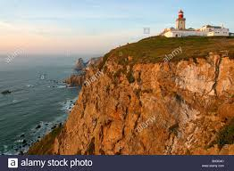 how high is 150 meters lighthouse on cabo da roca rocky cape steep cliff 150 meters high