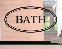 bathroom decal etsy